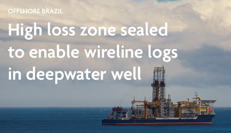 High loss zone sealed by Newpark solution to enable wireline logs in deepwater well. OFFSHORE BRAZIL